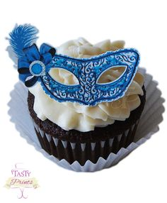 12 Edible Decorations  Masquerade Food Decorations  by TastyPrints, $10.99