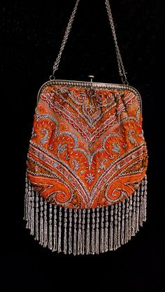 Antique Paisley Tapestry Bag
