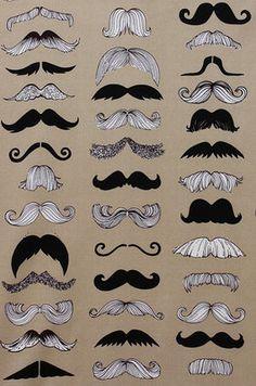 Covered Hat, inner lining - Alexander Henry moustache steampunk tattoo Per Metre Rockabilly 50s retro DIY