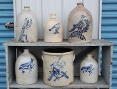 stoneware with birds