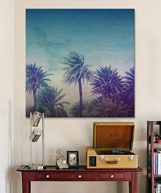 This Leah Flores Palm Paradise Gallery-Wrapped Canvas by iCanvasART is perfect! #zulilyfinds