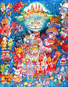 The Tea Party by Bill Bell ~ whimsical art ~ Alice in Wonderland