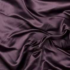 Mood's Dark Aubergine Silk Duchesse Satin is as regal as silk fabric gets. Its riveting understated sheen, medium weight and firm hand make for elegant special occasion wear. Available in attractive shades. Note: Dye lots are subject to change up to 1 Silk Satin Fabric, Mood Fabrics, Deep Winter, Collor, Purple Aesthetic, Brown Aesthetic, Silk Material, Silk Charmeuse, Soft Summer