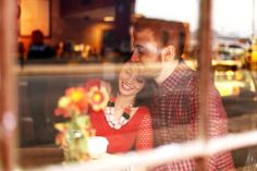 coffee shop engagement photo.. we could do this one..