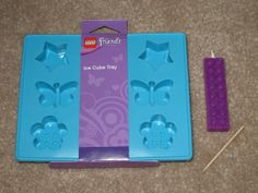 LEGO FRIENDS Brick Ice Cube Tray MOLD Birthday Party Crayons Candy Mould