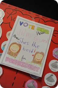 Cute presidents day activity... campaign posters and voter registration cards.