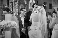 Santorini Wedding - church ceremony Wedding Church, Church Ceremony, Santorini Wedding, Elegant Wedding, Wedding Dresses, Fashion, Bride Dresses, Moda, Bridal Gowns