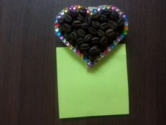 Gift for home, #Magnet, #Heart, #coffee beans, holder reminders. made base of a…
