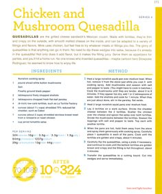 Sounds delicious - hard to believe that regular quesadillas are over 1000 calories!!