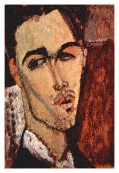 Art Print: Portrait of Celso Lagar by Amedeo Modigliani : 19x13in