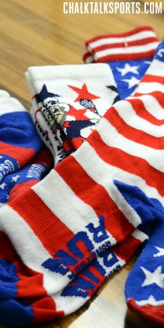 Assortment of patriotic socks to get ready for July 4th! Only at ChalkTalkSPORTS.com!