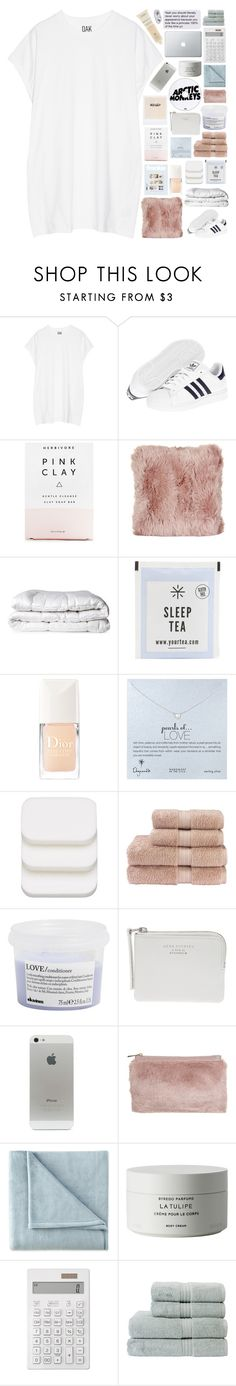 """I PROMISE SOMEONE WILL GIVE YOU ALL YOU WANT"" by nothing-like-outerspace ❤ liked on Polyvore featuring Oak, adidas, Herbivore, Natures Collection, Brinkhaus, Christian Dior, Dogeared, COVERGIRL, Christy and Davines"