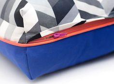 Chevron Dog Bed in Salt + Pepper | Lion + Wolf | Modern dog beds handmade in the USA