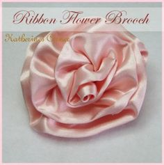 Today's tutorial is how to make a silk ribbon flower brooch.    What You need