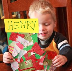 Wrapping Paper Stocking Toddler Craft on hands on : as we grow