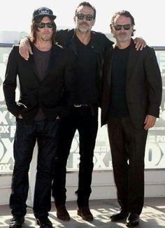 Men. In. Black. ♥ Norman Reedus. Jeffrey Dean Morgan. Andrew Lincoln. THE WALKING DEAD