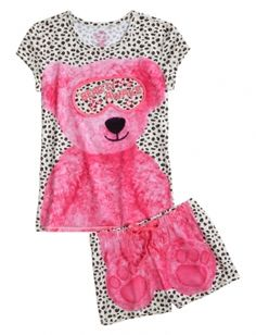 Teddy Bear Pajama Set @ www.shopjustice.com TOO CUTE! Wanna get this for her so badly!