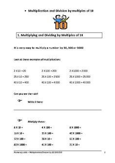 math worksheet : how to divide decimals by 10 1001000 fast  youtube  school  : Multiples Of 10 100 And 1000 Worksheets