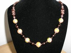 Genuine Hand Painted pearls/Glass beads by CreationsbyMaryEllen, $14.75
