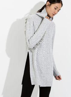 Women's Cashmere Tunic with Fringe | Dahlia Turtleneck | Women | Kit and Ace