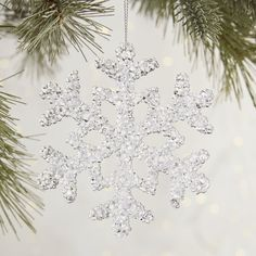 Icy Snowflake Ornament   Pier 1 Imports