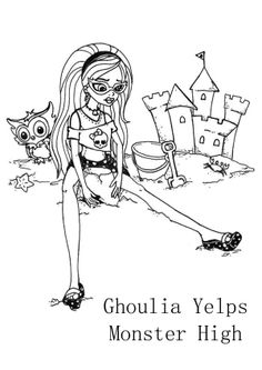 Gloom Beach Ghoulia Monster High Coloring Page Free Printable PagesColoring