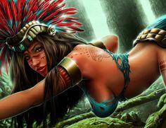 Aztec Goddesses, Aztec Mythology, Pagan Goddesses, Gods And Goddesses, Fantasy… Sacred Feminine, Divine Feminine, Fantasy Characters, Female Characters, Fantasy Figures, Aztecas Art, 7 Arts, Inka, Chicano Art