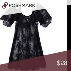 Cold shoulder lace tunic/dress All over high quality lace NOT CRUNCHY lace😉...scalloped edges can be worn as swim cover up or layer over tanks and bandeaus it's up to you but definitely a must have for your spring summer wardrobe Tops