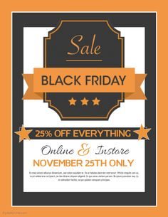 Black Friday Sale Flyer Template  Red  Black Friday Flyer
