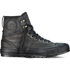 Converse Chuck Taylor All Star Tekoa Boot – black Sneakers ($100) ❤ liked on Polyvore featuring shoes, sneakers, black, black shoes, star shoes, black trainers, converse trainers and black sneakers