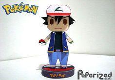 Pokemon - Chibi Ash Ketchum Papercraft Ver.4 Free Template Download - http://www.papercraftsquare.com/pokemon-chibi-ash-ketchum-papercraft-ver-4-free-template-download.html#AshKetchum, #Chibi, #Pokemon