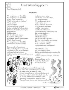 3rd grade Reading Worksheets: Poems: identifying patterns ...