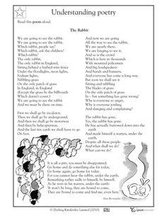 5 great reading worksheets: grade 4 - The Rabbit: understanding poetry | GreatSchools