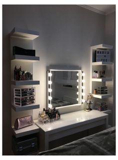 Cute Bedroom Decor, Bedroom Decor For Teen Girls, Room Design Bedroom, Room Ideas Bedroom, Home Room Design, Beauty Room Decor, Makeup Room Decor, Dressing Room Decor, Aesthetic Room Decor
