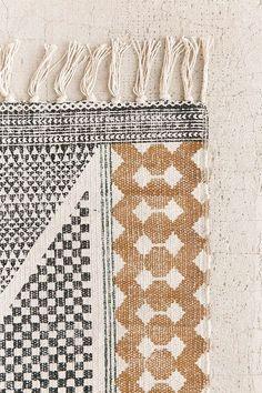 Rug Calisa Block Printed Rug rugs casual trendy home decor aproducts neutral territory casual home decor casual interiors Casual Home Decor, Trendy Home Decor, Unique Home Decor, Diy Home Decor, Room Decor, Unique Rugs, Estilo Navajo, Room Ideias, Decoration Ikea