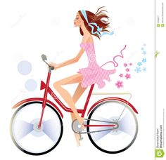 girl on bicycle business cards - Google Search