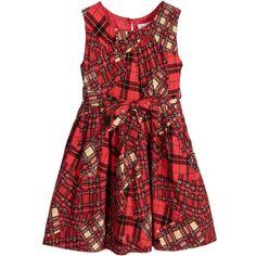 Rachel Riley - Patchwork Tartan Cotton Dress | Childrensalon