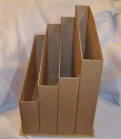 A good idea to store paper Diy Crafts Hacks, Diy Home Crafts, Diy Arts And Crafts, Diy Crafts For Kids, Diy Cardboard Furniture, Cardboard Box Crafts, Diy Storage Boxes, Desk Organization Diy, Paper Storage
