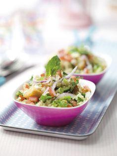 Quinoa- & broodsalade met pijpajuin