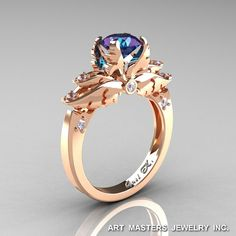 Classic Angel 14K Rose Gold 1.0 Ct Chrysoberyl by DesignMasters, $1,759.00