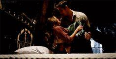 Kol carries Davina to her bed Kaleb The Originals, Daniel Sharman The Originals, Vampire Diaries The Originals, Kol And Davina, Davina Claire, Danielle Campbell Gif, Romantic Kiss Gif, Kol Mikaelson, We Heart It