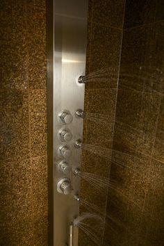 Close Up Shot Of The VG08005 Shower Massage Panel Featuring A Round Rain  Shower Head | DIY Networku0027s Bath Crashers Features VIGO | Pinterest | Rain  Shower ...