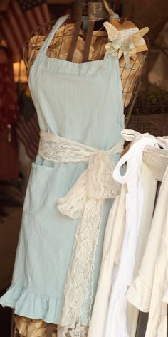 Sweet Ruffled Apron by FleaMarketChick on Etsy, $20.00