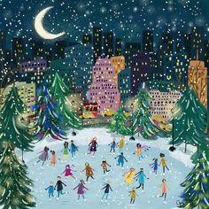 Illustration Noel, Christmas Illustration, Illustrations, Winter Illustration, Winter Light, Winter Art, Photo Images, Theme Noel, Noel Christmas