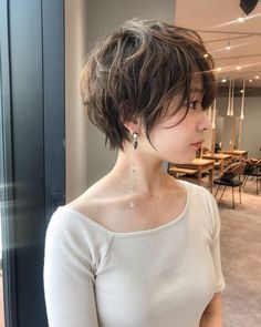 Are you looking for new short hairstyles to change your style? Then you are in the right place! Here we have prepared latest sh… in 2020 Messy Bob Hairstyles, Latest Short Hairstyles, Pretty Hairstyles, Hairstyle Ideas, Hairstyles 2018, Asian Hairstyles, Short Grey Hair, Short Hair Cuts, Korean Short Hair Bob