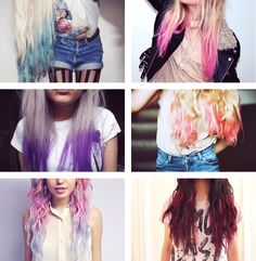 Loving these colours! Remember, dip dyed doesn't have to be blondes and browns!