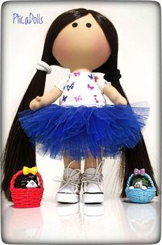Little girl by PticaDolls ❤️ Handmade fabric tilda OOAK doll https://www.etsy.com/listing/500429660/little-handmade-textile-doll-in-blue