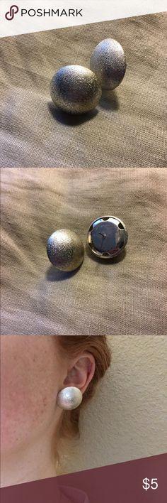 Silver Stud Earrings Like new! (Cleaned after use/modeling). Jewelry Earrings