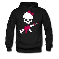 Girlie Skull Hoodie | Spreadshirt | ID: 8653434