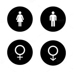 Wc entrance icons. Vector